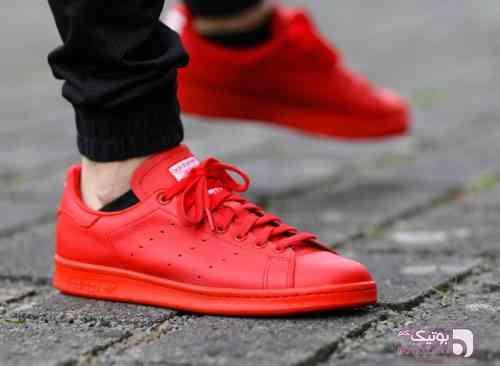 Adidas - Stan Smith قرمز کفش ورزشی