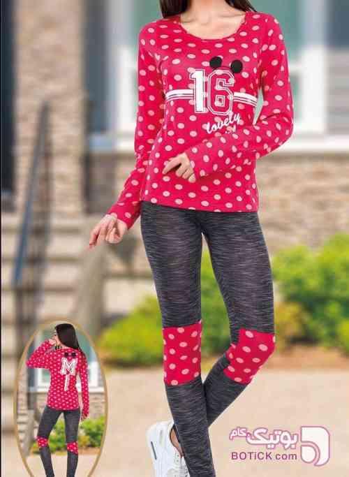 بلوز شلوار تکنور  طوسی لباس راحتی زنانه