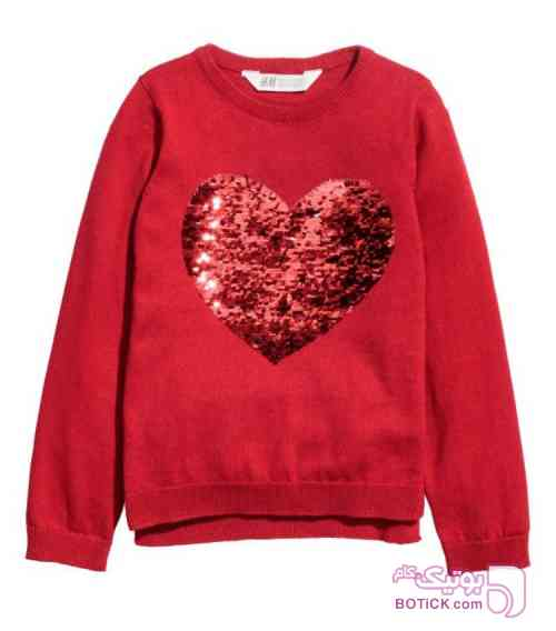 سويتشرت قلب پولكي قرمز قرمز لباس کودک دخترانه