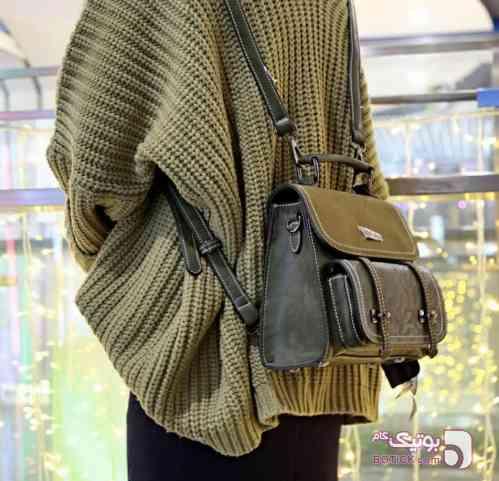 کیف چرم  سبز كيف زنانه