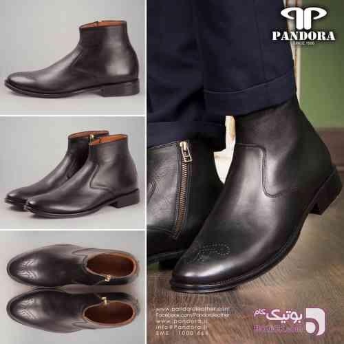 کفش چرم مردانه مشکی كفش مردانه