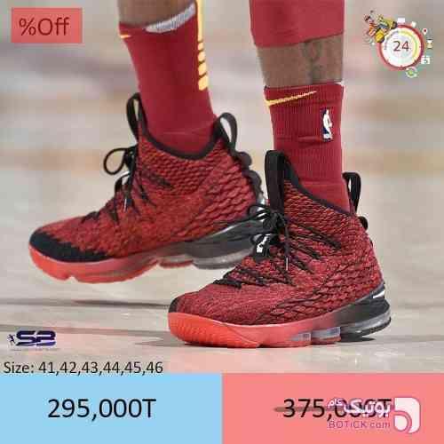 Nike Lebron 15 زرشکی كتانی مردانه