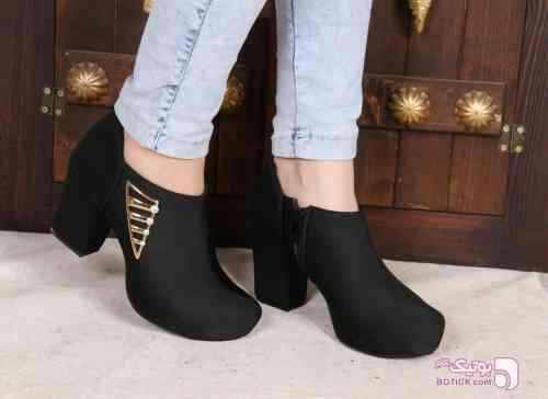 کفش پاشنه دار مدل هلما مشکی كفش زنانه