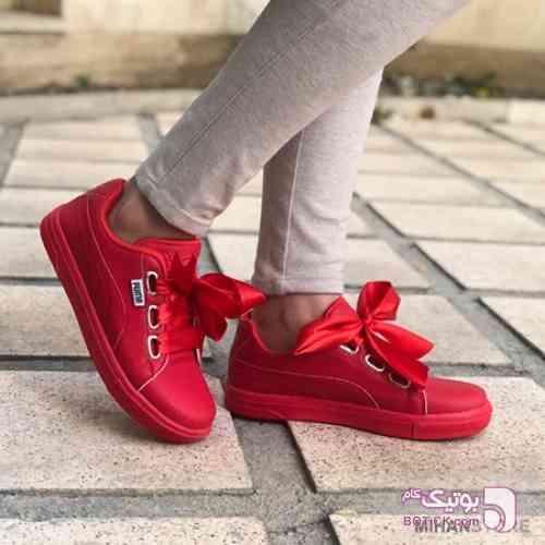 کفش پوما مدل Zola قرمز كتانی زنانه