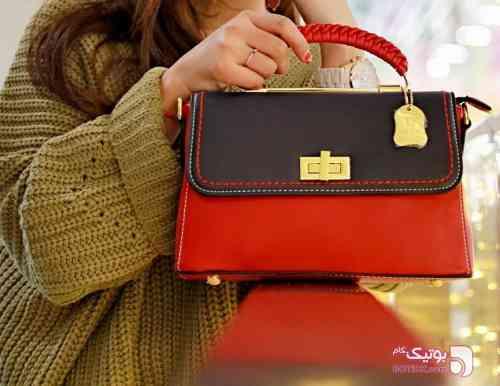 کیف دستی قرمز كيف زنانه