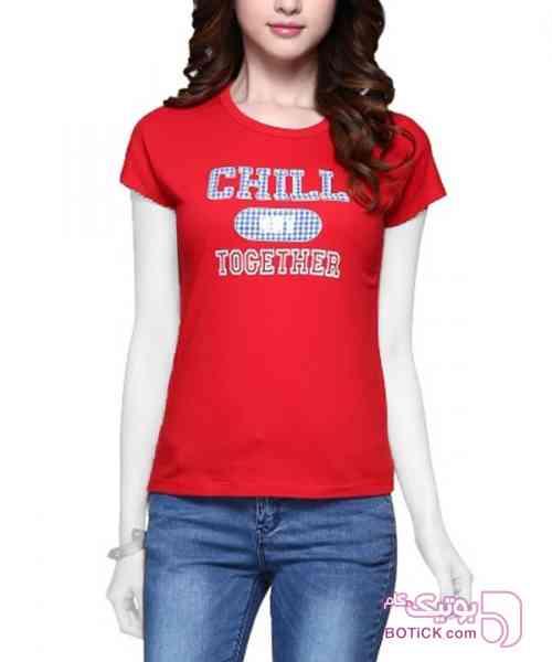 تی شرت آستین کوتاه زنانه جین وست آبی تی شرت زنانه