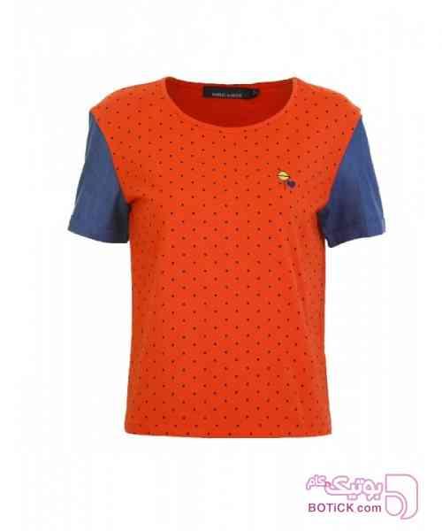 تی شرت آستین کوتاه زنانه ساموئل اند کوین نارنجی تی شرت زنانه