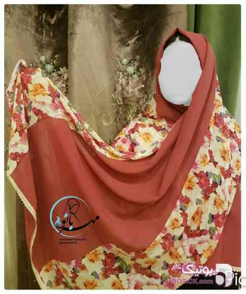 شال صورتی شال و روسری