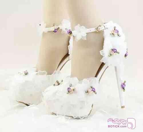 کفش مجلسی سفید كفش زنانه