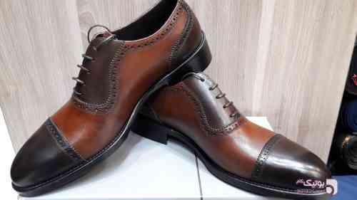 کفش مجلسی قهوه ای كفش مردانه
