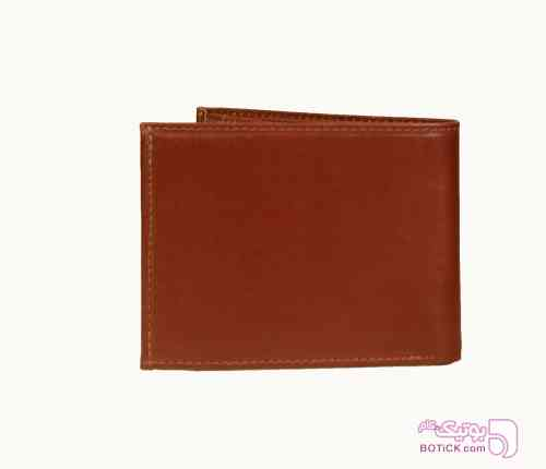 کیف پول جیبی تمام چرم قهوه ای كيف مردانه