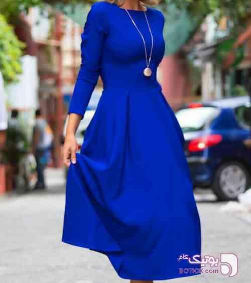 میدی کلوش آبی لباس  مجلسی