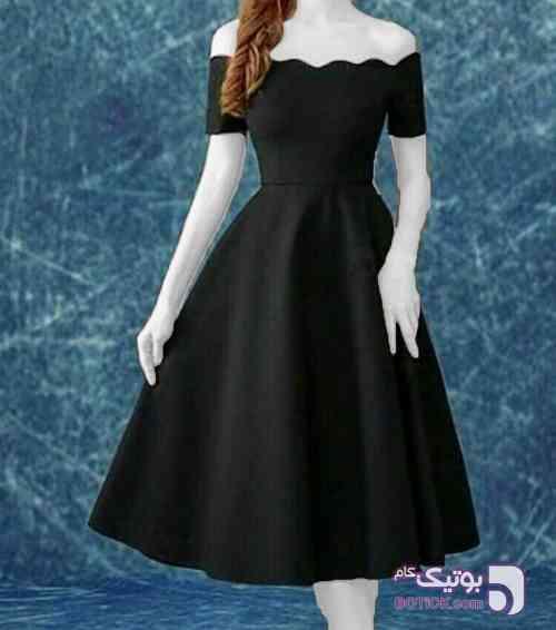 عروسکی پفی ترک مشکی لباس  مجلسی