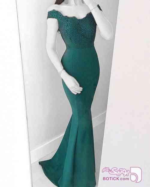 مدل شیک ترک سبز لباس  مجلسی