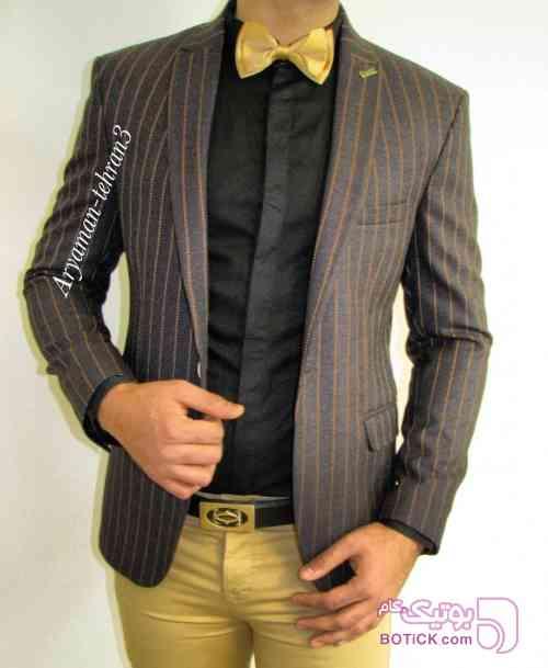 کت تک مردانه قهوه ای كت تک
