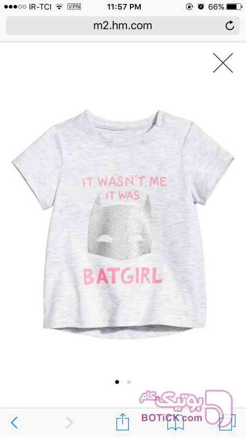 تي شرت دخترانه اچ اند ام سفید لباس کودک دخترانه