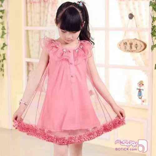 سارافون صورتی لباس کودک دخترانه