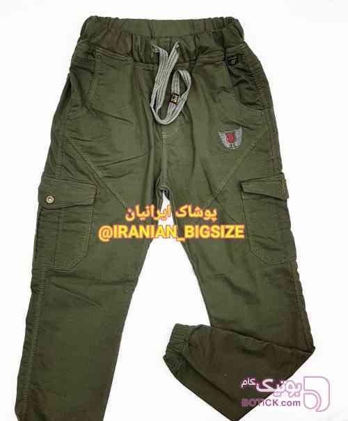 شلوار اسلش ۶جیب سبز لباس راحتی مردانه