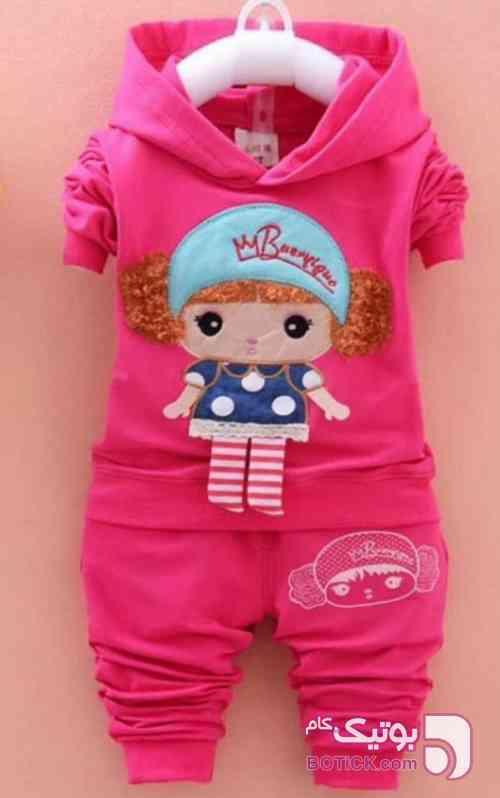 بلوز شلوار کیتی زرشکی لباس کودک دخترانه