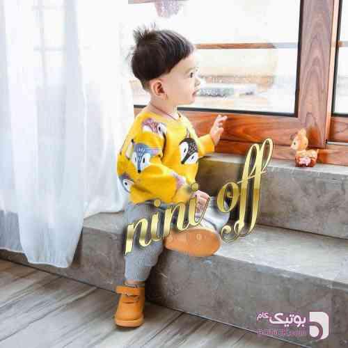 بلوز تک روباه زرد لباس کودک پسرانه