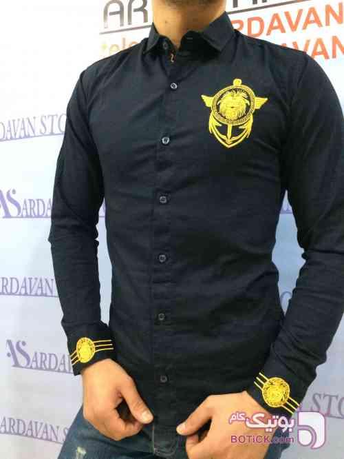 پیراهن سورمه ای پيراهن مردانه
