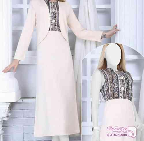 لباس مجلسی سفید لباس  مجلسی