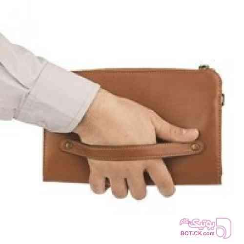 کیف دستی چرم طبیعی  مشکی كيف مردانه