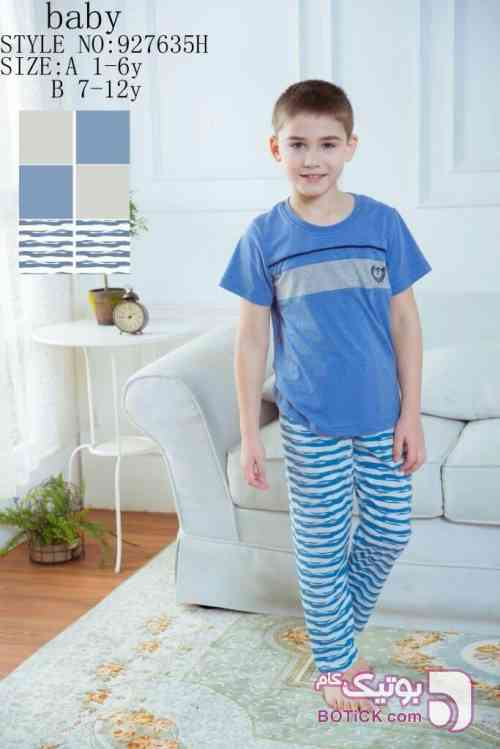 ست بچگانه آبی لباس کودک پسرانه