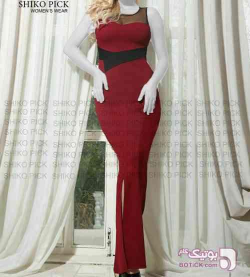 ماکسی مدل انا زرشکی لباس  مجلسی
