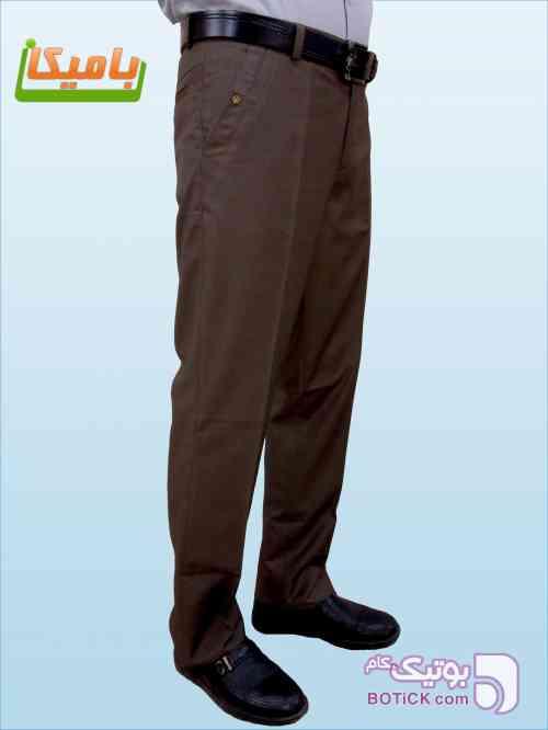شلوار پارچه ای مدل دار سابله قهوه ای شلوار مردانه