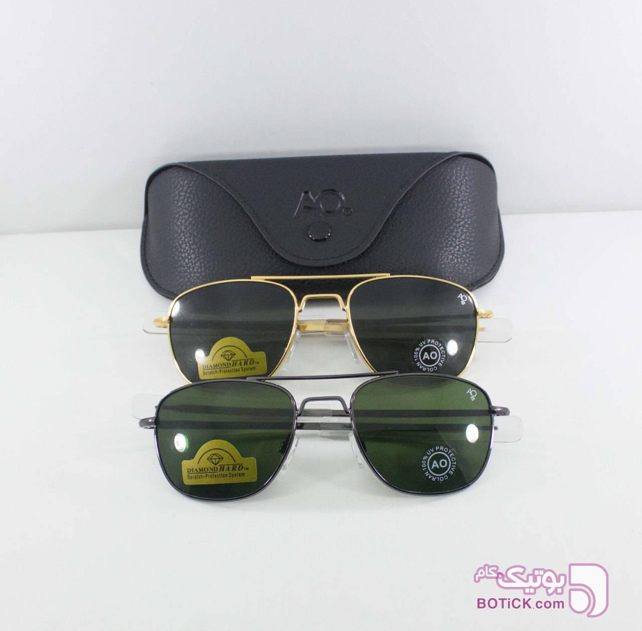 Ao مشکی عینک آفتابی