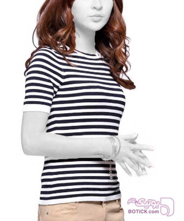 پلیور آستین کوتاه زنانه جین وست سورمه ای پليور زنانه