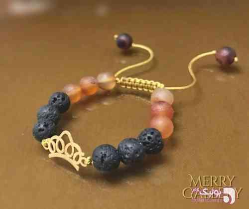 دستبند طلا 18 عیار مشکی دستبند و پابند