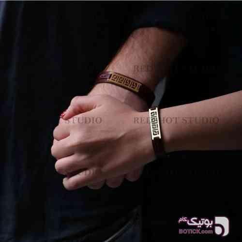 دستبند ست اسپورت قهوه ای دستبند و پابند