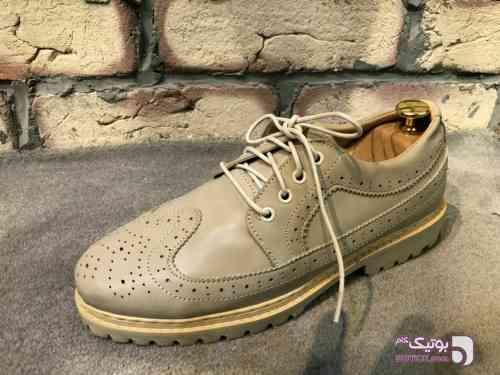 کفش چرم ترک مردانه کرم كفش مردانه