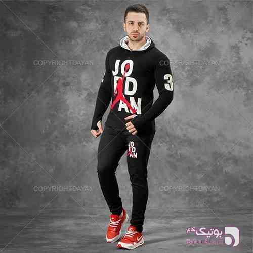 ست سویشرت و شلوار Jordan مشکی ست ورزشی مردانه