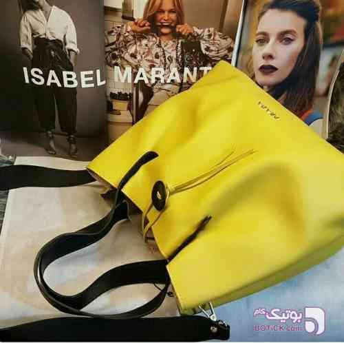 کیف زنانه برند پرادا زرد كيف زنانه