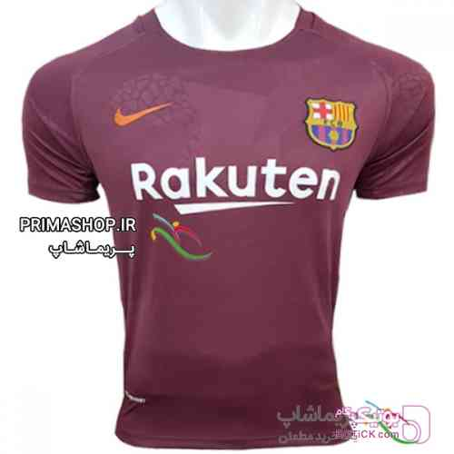 تیشرت سوم بارسلونا 17/18 تایلندی زرشکی تی شرت مردانه