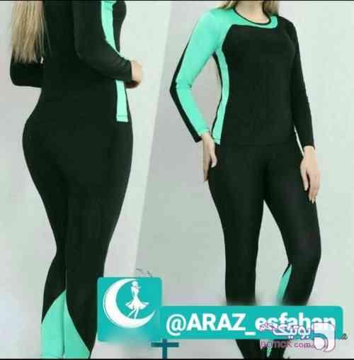 تیشرت و شلوار سبز لباس راحتی زنانه