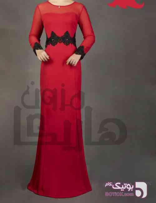 ماکسی قرمز پوشیده سایز بزرگ قرمز لباس  مجلسی