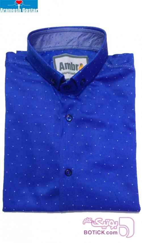 پیراهن اسپرت پسرانه کد ۹۵۲۱ - رنگ ۳ آبی پيراهن مردانه