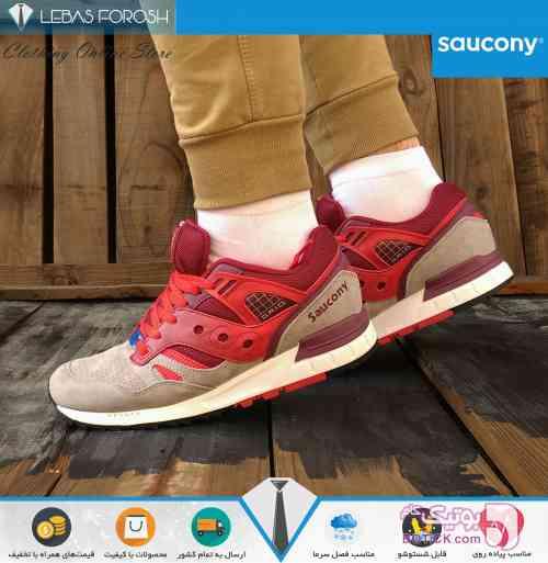 Saucony Grid Sd Red کرم كتانی مردانه