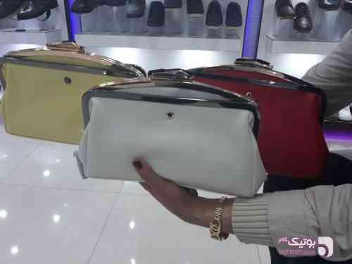 کیف زنانه آرایشی 712 زرد كيف زنانه