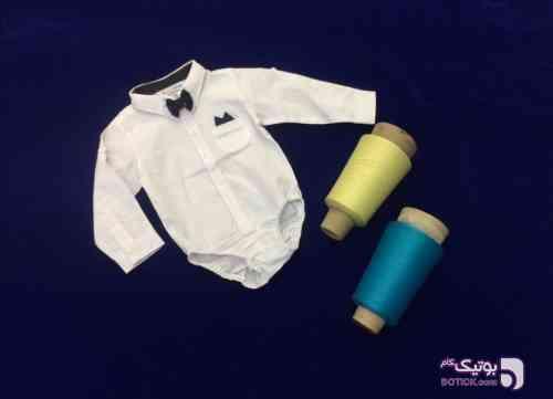 پسرانه زیر دکمه دار تک رنگ پنج سایز سفید لباس کودک پسرانه