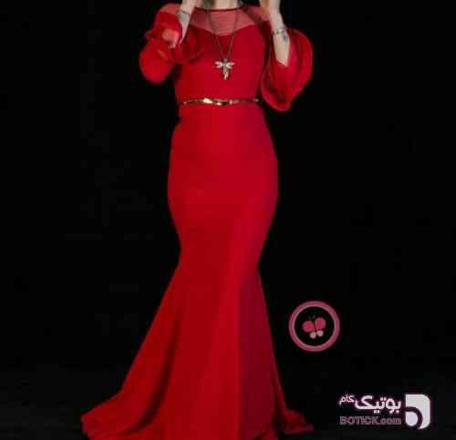 لباس شب مجلسی قرمز لباس شب