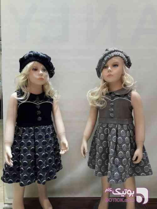 سارافون با کلاه سورمه ای لباس کودک دخترانه