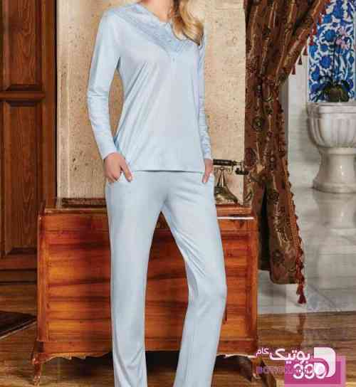 بلوز و شلوار راحتی براک آبی لباس راحتی زنانه
