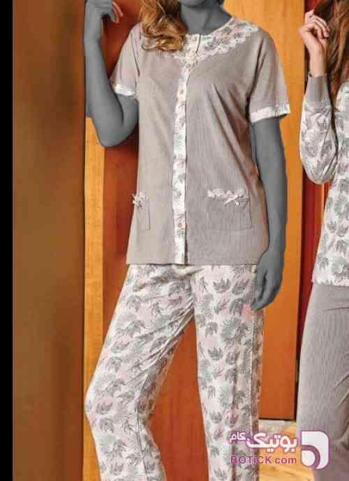 بلوز و شلوار آستین کوتاه براک  صورتی لباس راحتی زنانه