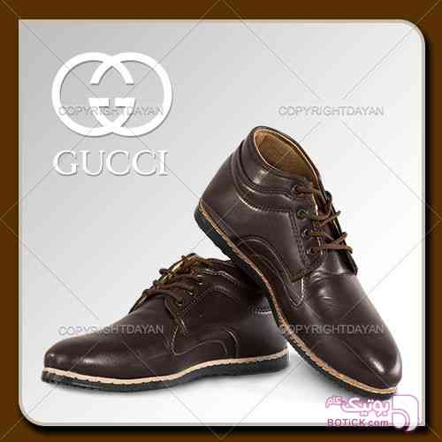 نیم بوت مردانه Gucci(قهوه ای) مشکی كفش مردانه