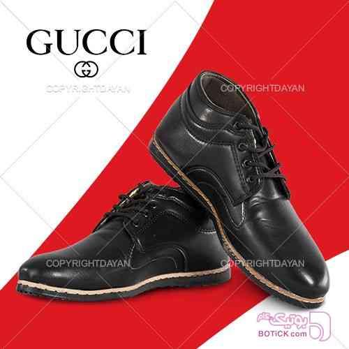نیم بوت مردانه Gucci(مشکی) مشکی كفش مردانه